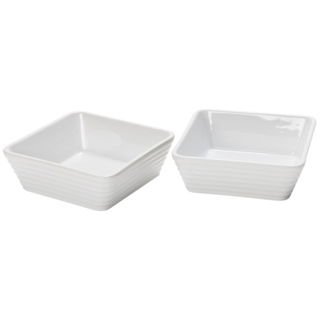 Certified International Bistro Small Square Bakers - Set of 2