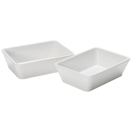 Certified International Bistro Small Rectangular Bakers - Set of 2