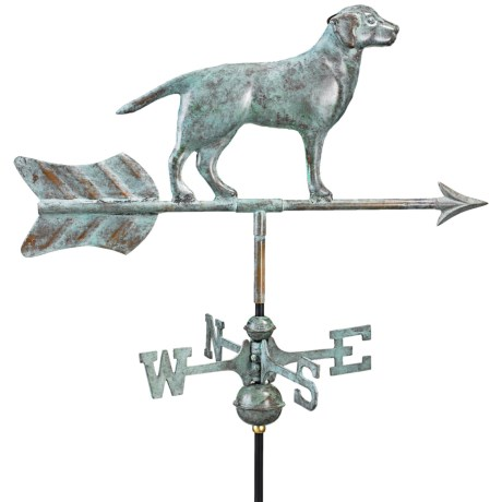 Good Directions Labrador Retriever Weathervane - Garden Pole