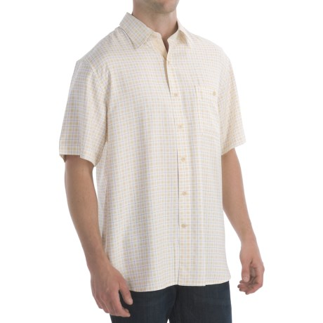 NastNat Nast Plaid All Over Shirt - Woven Silk, Short Sleeve (For Men)