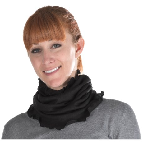 Medima Wool-Angora Ruffled Neck Band (For Women)