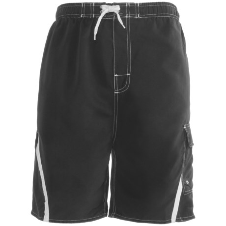 Revens Sports Color Block Swim Shorts - Inner Brief (For Men)