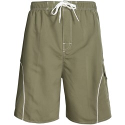 Revens Sports Solid Piped-Trim Swim Shorts - Inner Brief (For Men)