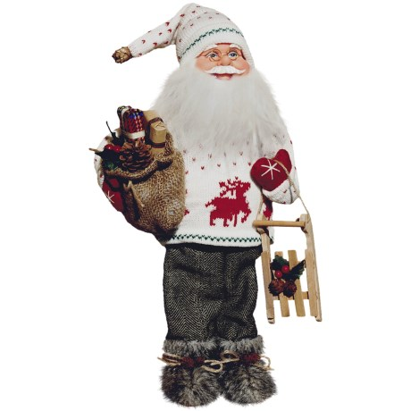 "Santa's Workshop, Inc. 18"" Collectible Santa Figure - Sled Ride Anyone?"