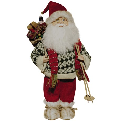 "Santa's Workshop, Inc. 18"" Collectible Santa Figure - Born to Ski"
