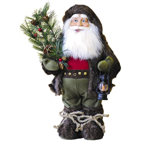"Santa's Workshop, Inc. 17"" Collectible Santa Figure - Furry Woodsman"
