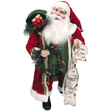 "Santa's Workshop 35"" Santa Figure - Christmas Cheer Collectible"
