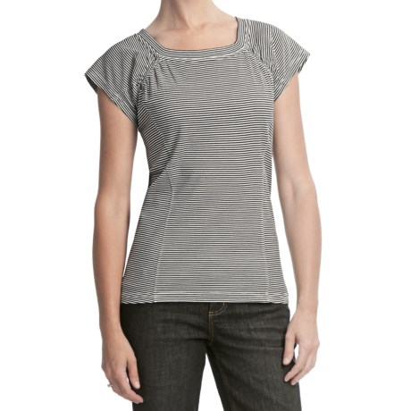 Woolrich Striped Honey Brook Tee - UPF 40, Short Sleeve (For Women)
