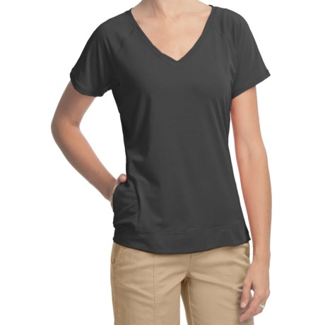 Woolrich Eureka Springs Stretch Jersey T-Shirt - UPF 50+, V-Neck, Short Sleeve (For Women)