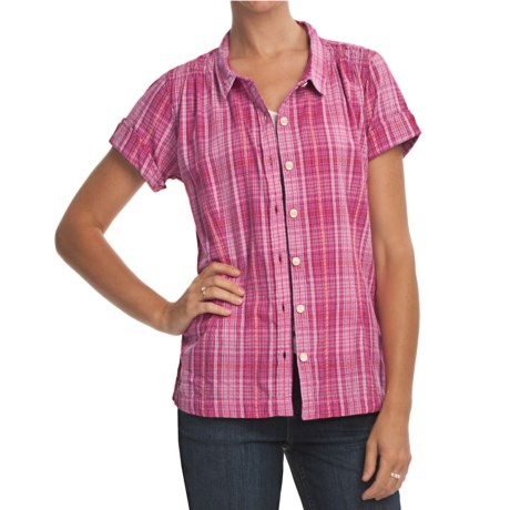 Woolrich Spring Valley Dobby Plaid Shirt - UPF 20+, Short Sleeve (For Women)