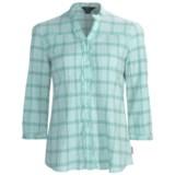 Woolrich Crystal Mountain Shirt - UPF 15, 3/4 Sleeve, Stretch Cotton Seersucker (For Women)
