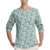 Woolrich Tamia Cotton Slub Print Top - UPF 20, 3/4 Sleeve (For Women)