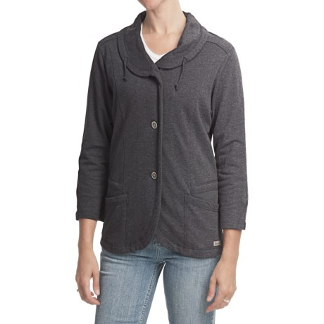 Woolrich Jalissa Jacket - 3/4 sleeve, French Terry Cotton (For Women)