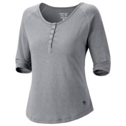 Mountain Hardwear Lochvale Henley Shirt - Slub Jersey, Elbow Sleeves (For Women)
