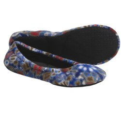 Acorn Fleece Travel Ballet Slippers (For Women)