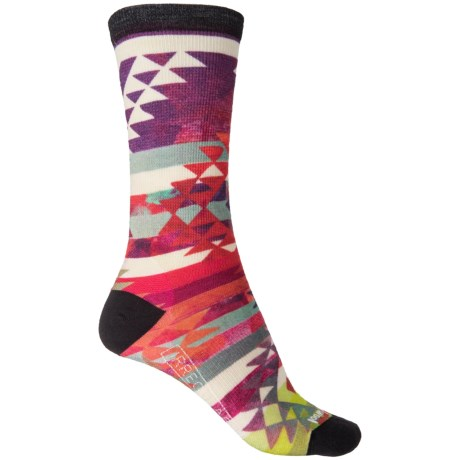 SmartWool Triangle Print Socks - Merino Wool, Crew (For Women)