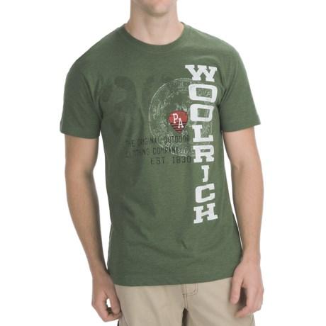 Woolrich Vertical Logo T-Shirt - Short Sleeve (For Men)