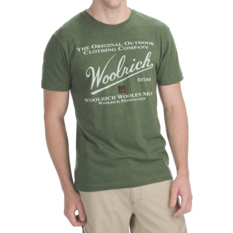Woolrich Icon Logo T-Shirt - Short Sleeve (For Men)
