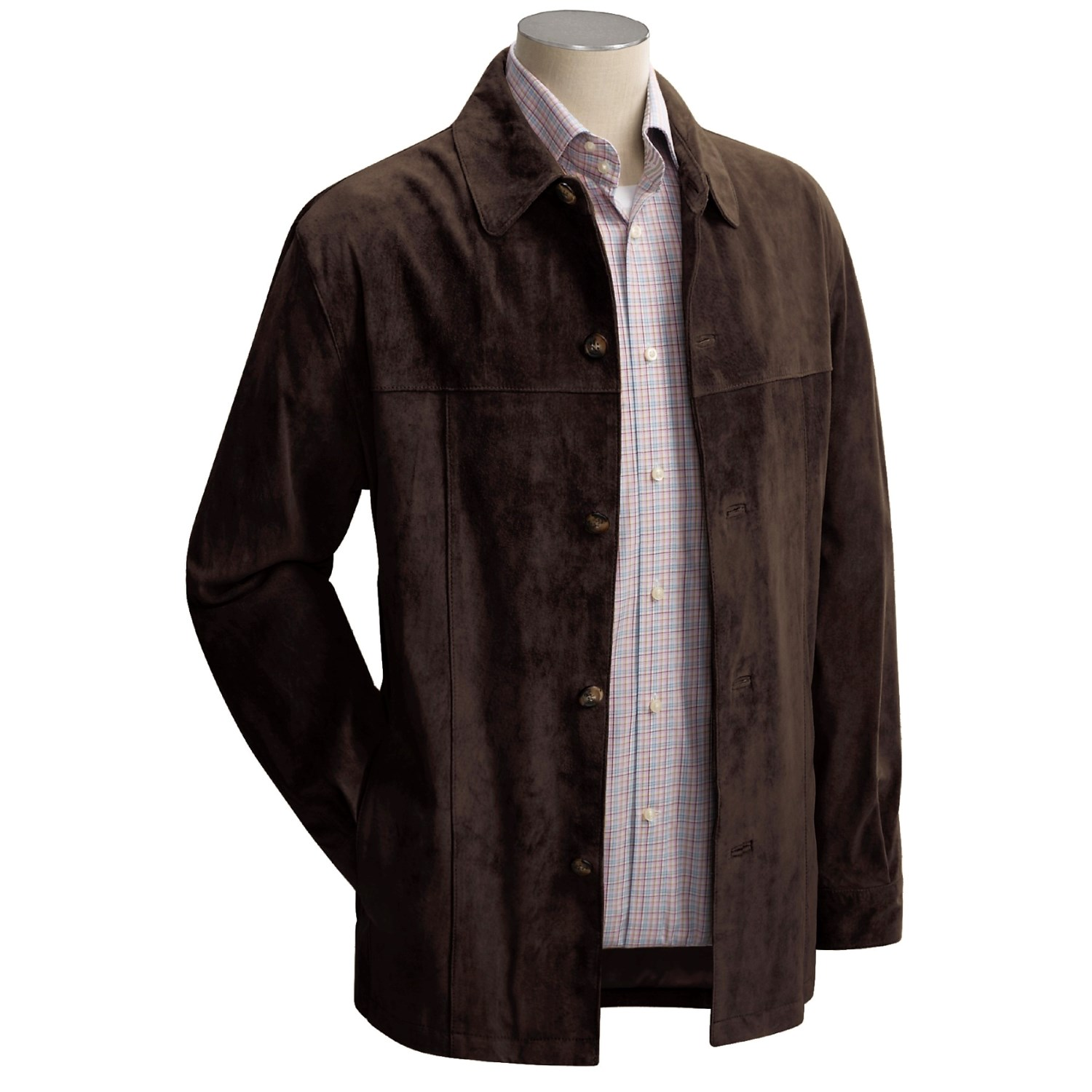 Newport Harbor Washable Suede Shirt Jacket For Men 49720