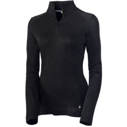 Smartwool NTS Base Layer Top - Midweight Merino Wool, Zip Neck, Long Sleeve (For Women)