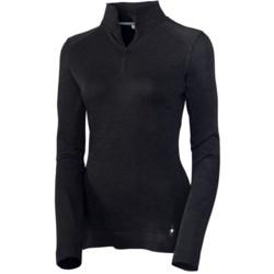 SmartWool Smartwool NTS Base Layer Top - Midweight Merino Wool, Zip Neck, Long Sleeve (For Women)