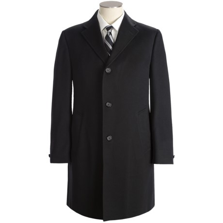 Hickey Freeman Solid Cashmere Top Coat (For Men)