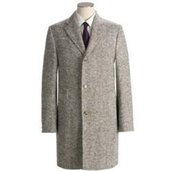 Hickey Freeman Chevron Top Coat - Wool (For Men)