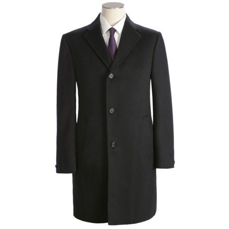 Hickey Freeman Solid Top Coat - Wool (For Men)