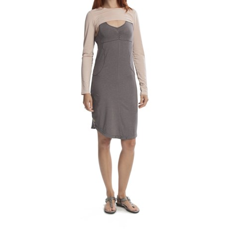 Lole Solaris Dress with Long-Sleeve Bolero - TENCEL®, Racerback, Sleeveless (For Women)