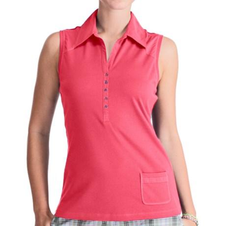 Lole Fresh Polo Shirt - UPF 50+, Organic Cotton, Sleeveless (For Women)