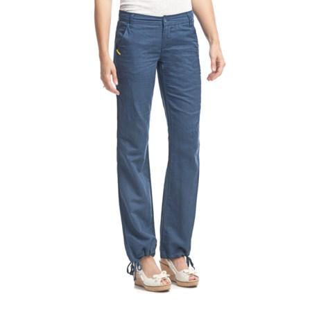 Lole Rennie 2 Pants - Linen-Organic Cotton, Low Rise (For Women)