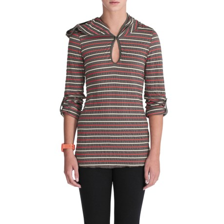 Lole Navona Crinkle Knit Hooded Top - Stretch, Long Sleeve (For Women)