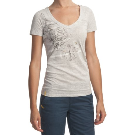 Lole Flower T-Shirt - Stretch Organic Cotton, Short Sleeve (For Women)