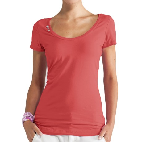 Lole Kiss Shirt - Stretch Organic Cotton, Short Sleeve (For Women)
