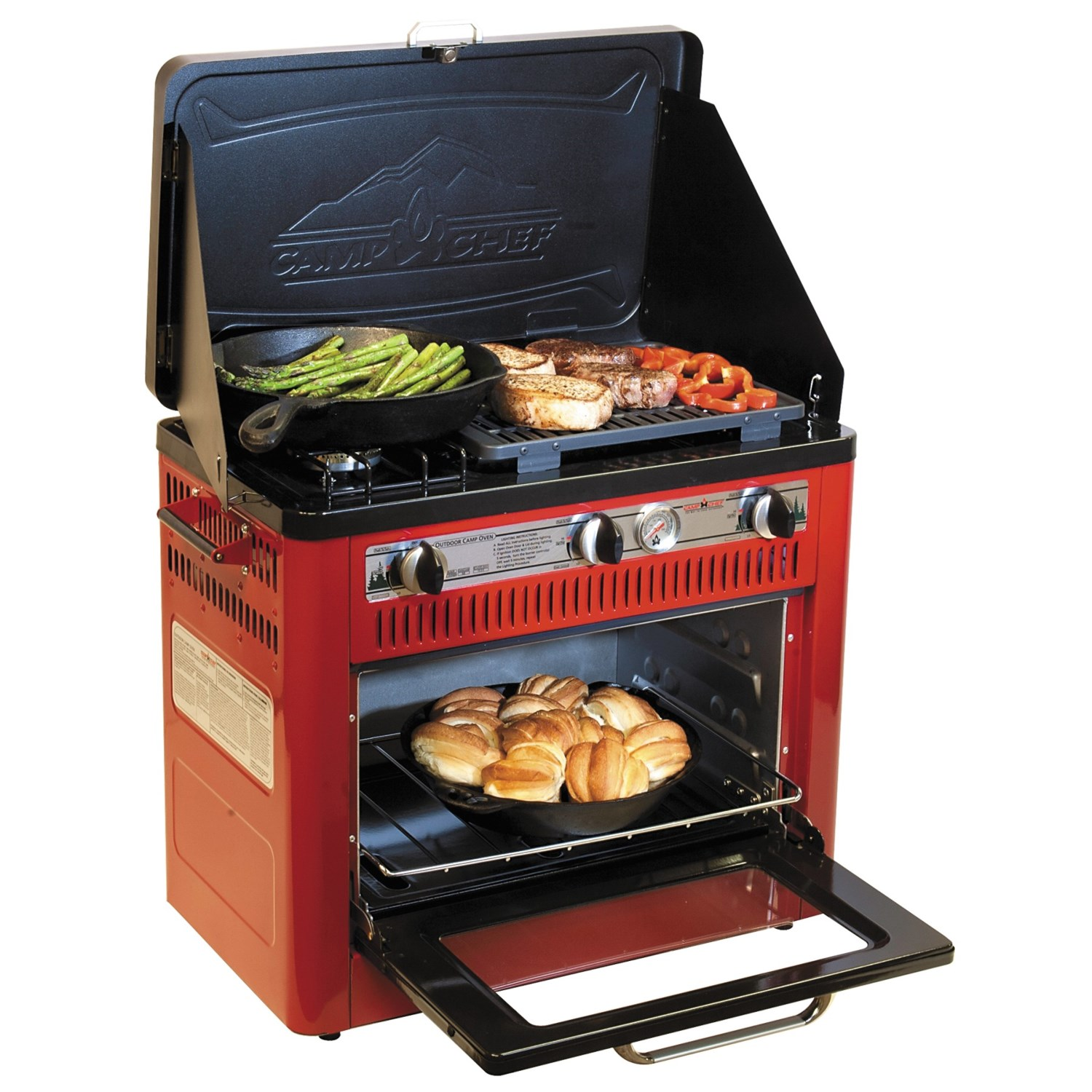 Camp Chef Outdoor Camp Oven With Grill Propane 4979p