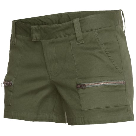 Hurley Lowrider Zipper Shorts (For Women)