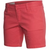 Hurley Lowrider Bermuda Shorts - Stretch Cotton Twill (For Women)