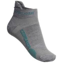 Icebreaker Run Ultralite Micro Socks - Merino Wool, Below-the-Ankle (For Women)