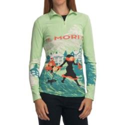 Neve St. Moritz Zip-Neck Top - Silk-Wool, Long Sleeve (For Women)