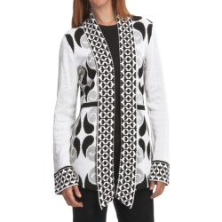 Neve Carla Ikat Cardigan - Combed Cotton (For Women)