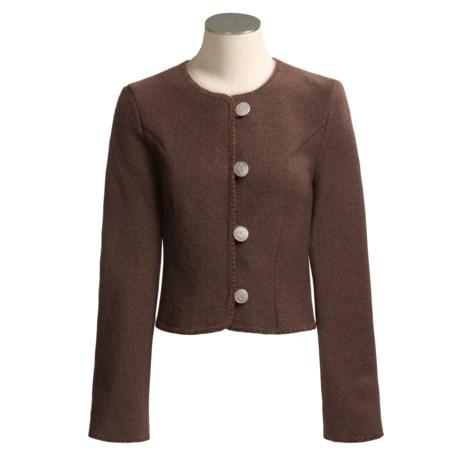 Stapf Boiled Wool Short Jacket  (For Women)