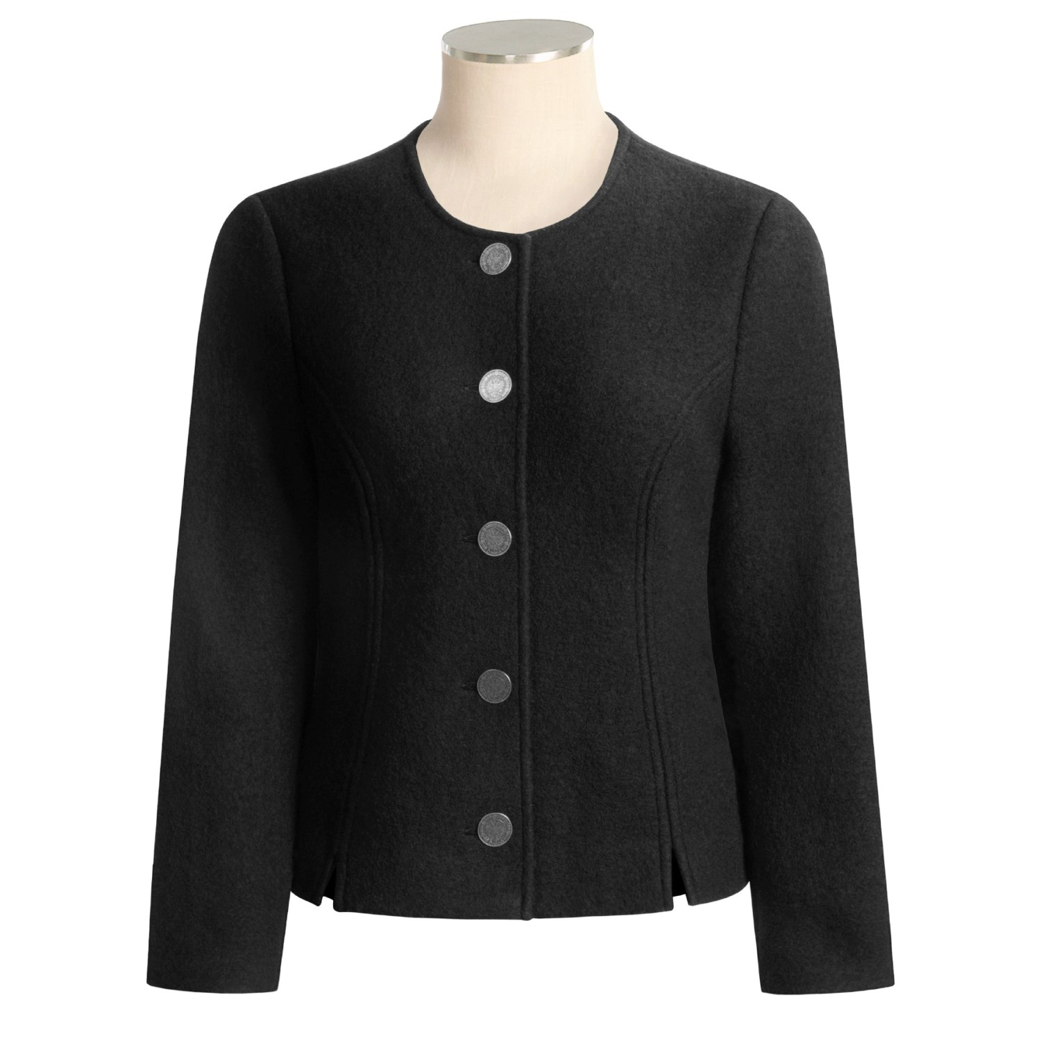 Stapf Boiled Wool Jacket - Princess Cut (For Women). Click to expand