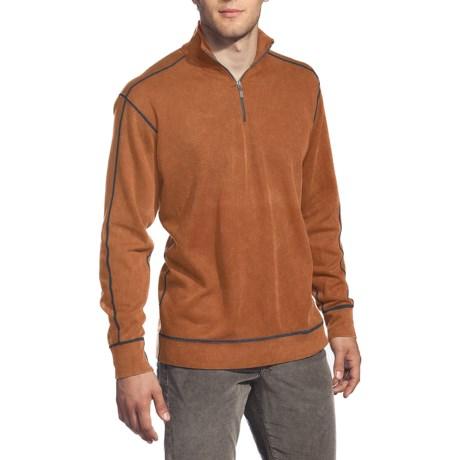 Agave Denim Yosemite  Supima® Mock Zip - Long Sleeve (For Men)