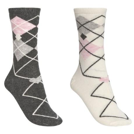 Catawba Patterned Socks - 2-Pack, Crew (For Women)