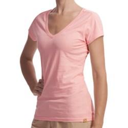 Gramicci Marea Daytona V-Neck T-Shirt - Slub Knit Jersey, Short Sleeve (For Women)