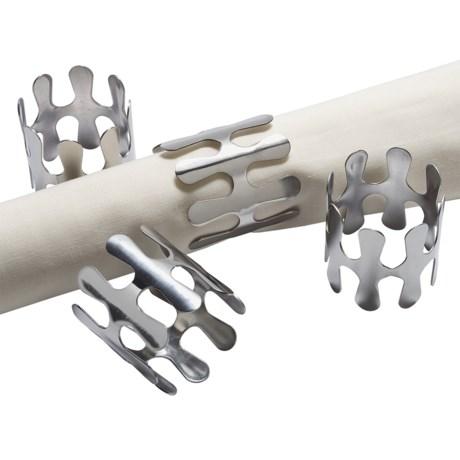 Sagaform Metal Napkin Rings - Set of 4