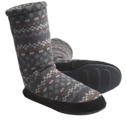 Acorn Fleece Slipper Socks (For Men)