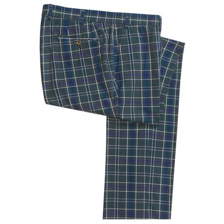 Hiltl Bentley Cotton Plaid Pants - Flat Front (For Men)