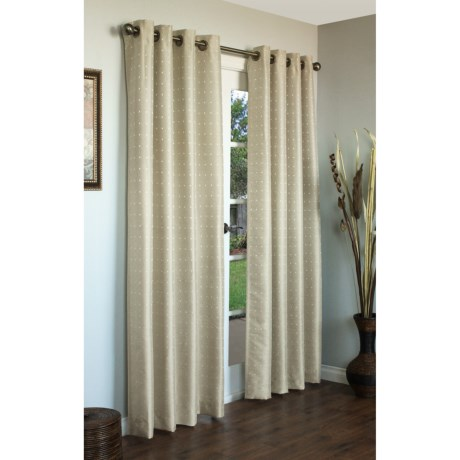 "Habitat Black Magic Curtains - 108x84"", Grommet-Top, Faux Silk"