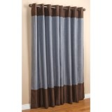 "Commonwealth Home Fashions Sabrina Banded Curtains - 104x84"", Grommet-Top, Faux Silk"